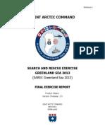Enclosure 1 SAREX Greenland Sea 2013 Final Exercise Report (Final)