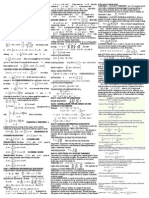 cheat-sheet - Boas Mathematical methods in the physical sciences