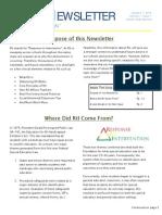 RtI Newsletter Volume 1