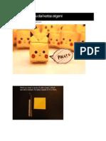 Cara Buat Pikachu Dari Kertas Origami