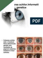 Genetica ochilor