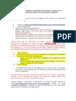 INSTRUCTIVO PARA EL REGISTRO DE HOJAS DE VIDA EN LA PÁGINA WEB DEL PROYECTO CONEXIÓN LABORAL