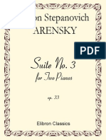 Anton Arensky Suite No 3 for Two Pianos Op 332