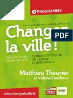 """Programme """"Changez la ville"""""""