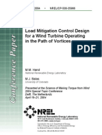 2 Load Mitigation Control Design for a Wind Turbine Operating in the Path of Vortices