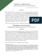 VERÍSSIMO_Expressão e conhecimento_a linguagem na fenomenologia da percepção_2012