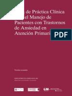 Diagnóstico y tratamiento de los trastornos de ansiedad en atención primaria 2