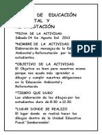 CAMPO   DE   EDUCACIÓN   AMBIENTAL  Y  REFORESTACIÓN trabajo  col   sambo