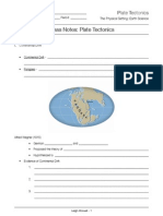 notes template - plate tectonics