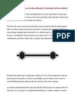 Aprende Como Crecer La Masa Muscular Y Desarrollar Un Físico Atlético