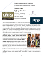 Fashion Africa Press Release