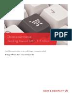 bain brief china e-commerce