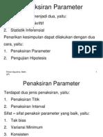 Penaksiran Parameter