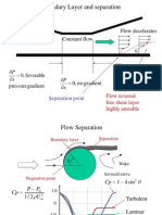 Boundary Layer & Separation