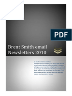 Brent Smith Email Newsletters 2010