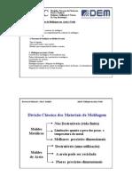 Fundição Aulas 08 e 09- Processos de Moldagem e Macharia em  Areias[1]