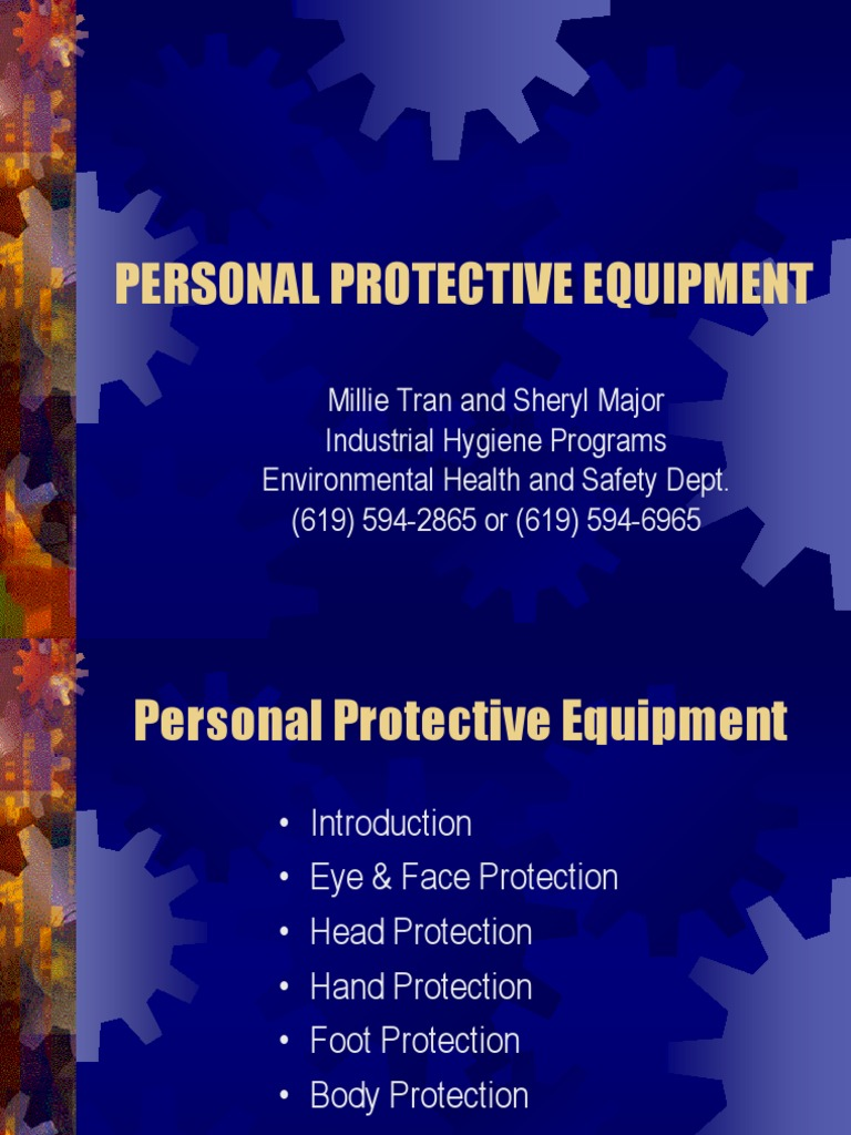 PPE - Personal Protective Equipment - Glove - 웹