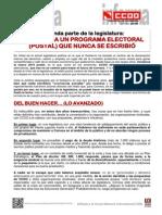 1758542-Letra Para Un Programa Electoral (Postal) Que Nunca Se Escribio