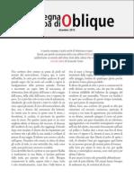 La rassegna stampa di Oblique di dicembre 2013