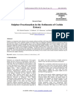 Research Paper Sulphur Fractionation in the Sediments of Cochin Estuary