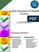 Quality Assurance vs Quality Control[1]