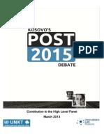 Post-2015 Debate in Kosovo
