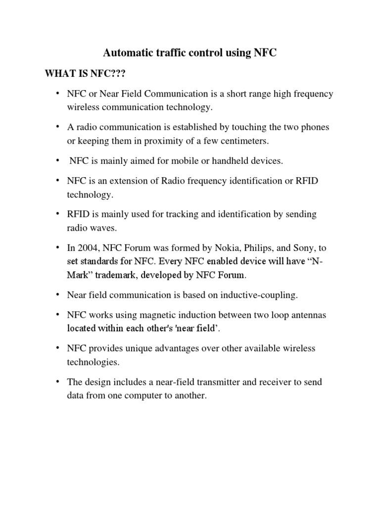 Traffic Light Control Using NFC   Near Field Communication