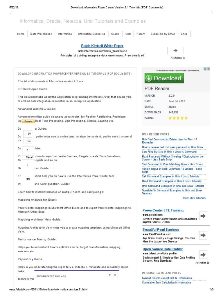 Download Informatica Powercenter Version 9 Pl Sql Data Management