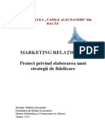 Proiect Marketing Relational