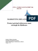 Proiect Marketing Relational