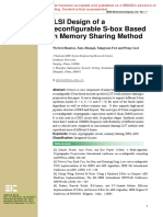 VLSI Design of a Reconfigurable S-Box Based on Memory Sharing Method