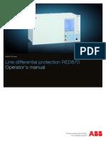 Operator s Manual RED670 1.2