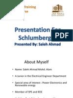 Schlumberger Presentation