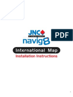 JNC Navig8 International Map Installation Instructions