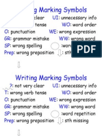 Writing Marking Symbols Poster