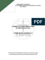 Curriculum Rezidentiat Chirurgie Generala