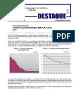 A Mortalidade Infantil Em Portugal No Ano 2000