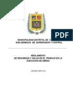 Reglamento de Seguridad y Trabajo de Obras 2011