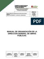 MANUAL DE ORGANIZACIÓN DE LA DIRECCIÓN DE OBRAS PÚBLICAS