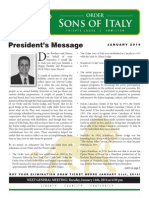 Sons of Italy Newsletter January 2014