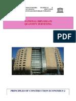 QUS 208 Construction Economics II
