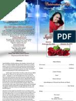 Ingrids Funeral Program 2013