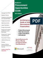 Procurement Opportunities Guide 2013