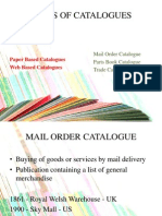 Types of Catalogues