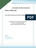 Control PID en motor de CD a través de FPGA y LABview