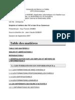 Emplois et métiers des TIC et des SI au Cameroun