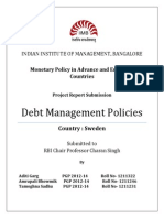 Debt Management Policies Sweden