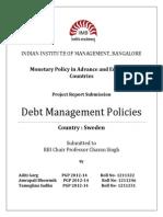 Debt Management Policies Sweden