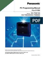 KXTDE Programming Manual 100 200 600