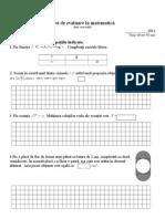 Test de evaluare la matematică pentru teza de vară Cl X uman.doc